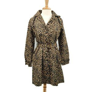 Capelli Womens Size Small Leopard Trench Coat